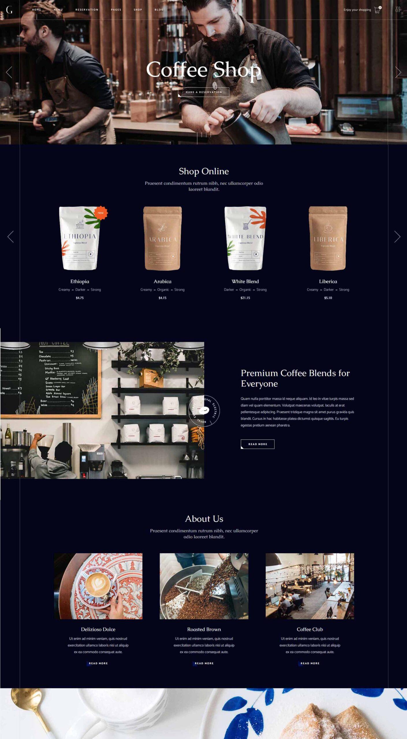 web design Cofeeshop