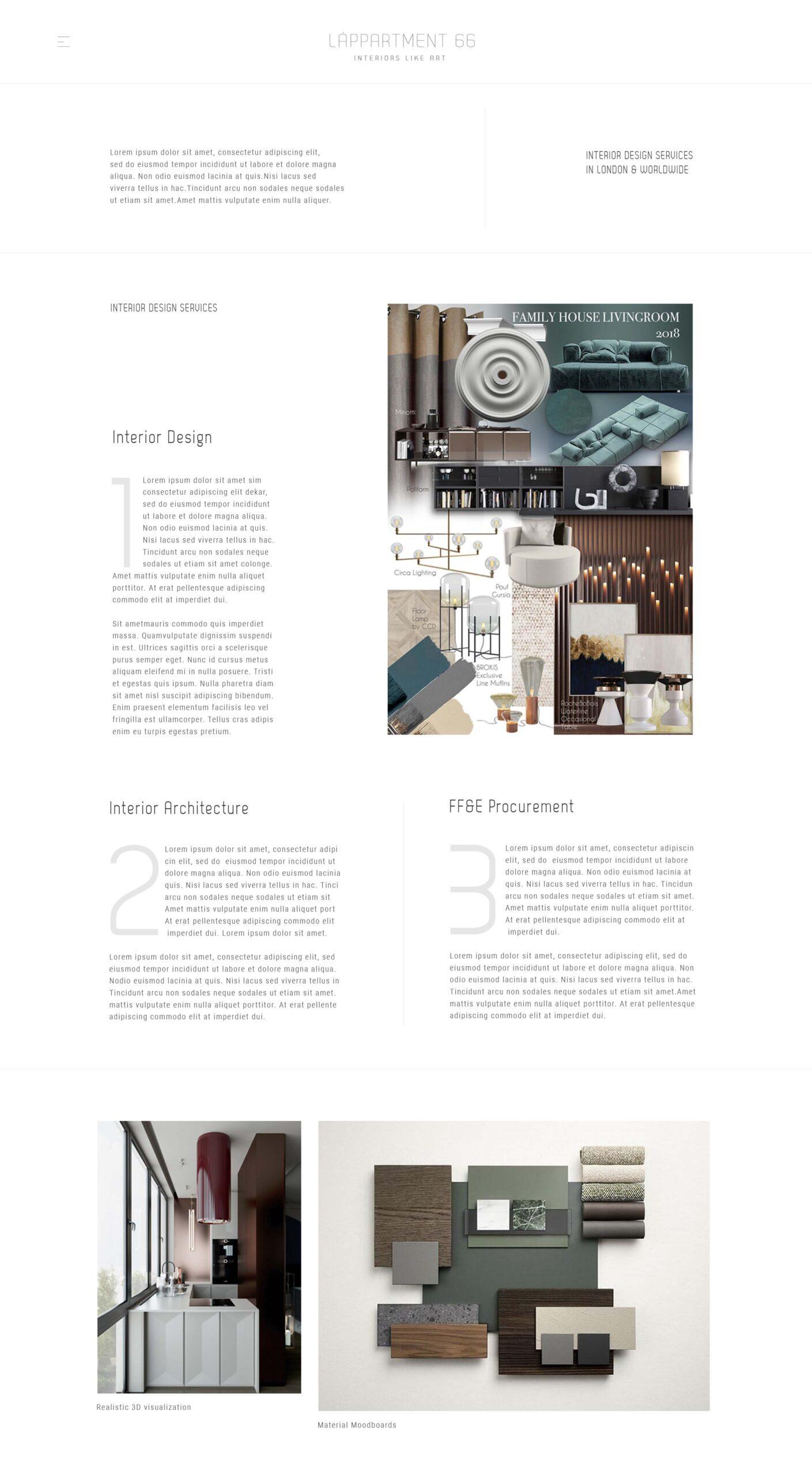 web design lappartement 66