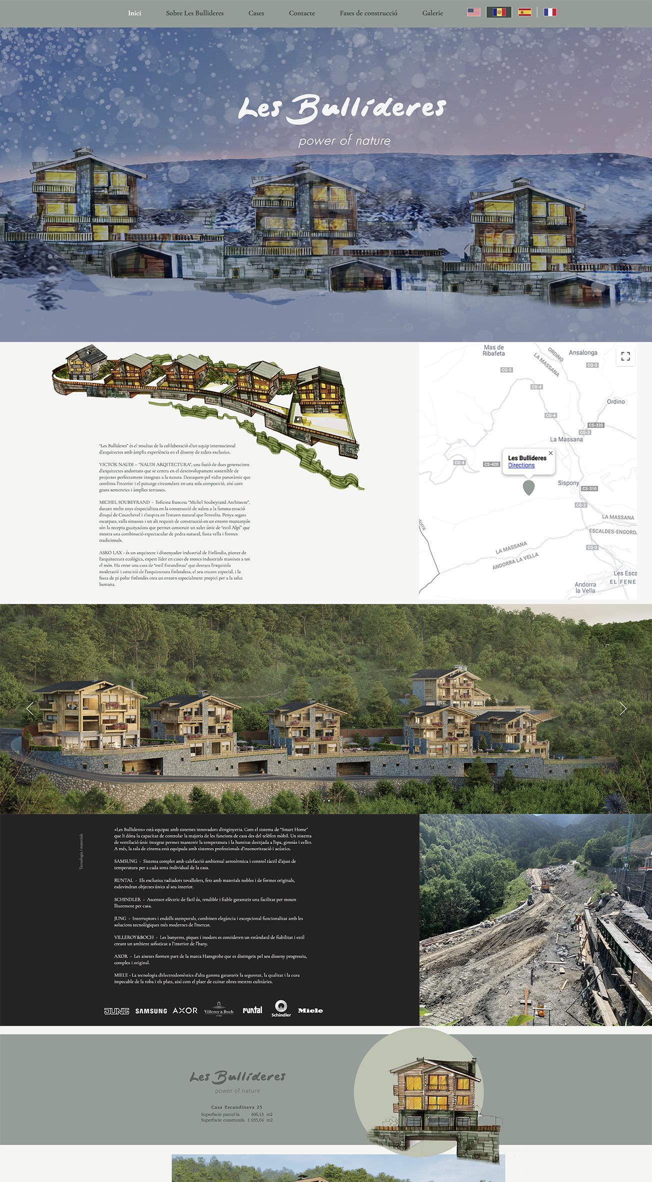 website design for developers and construction