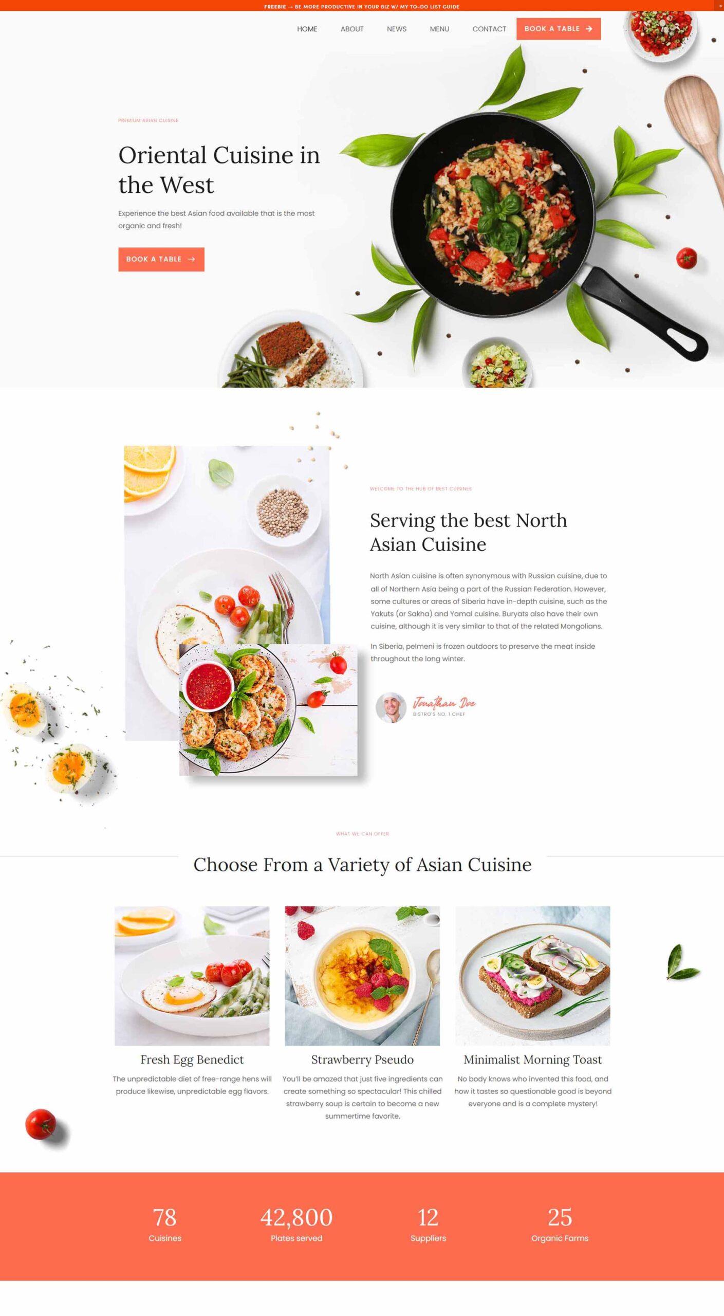 web design italian restaurant